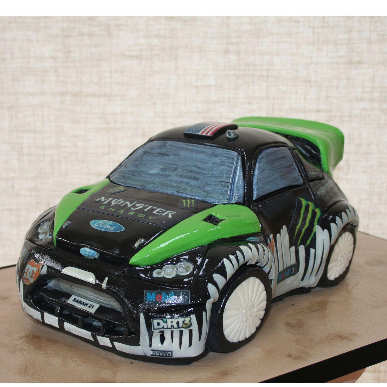 Rally Racing Car Birthday Cake