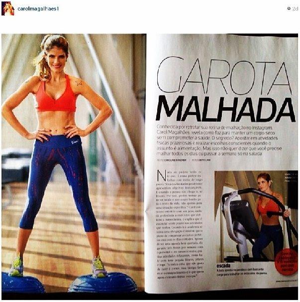@carolmagalhaes1 liiinda de @Live! (Oficial) na @revistacorpo de #novembro . #fitness #health #fashion #inspiração