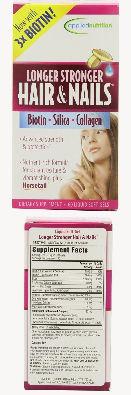 Hair Skin And Nails Vitamins Applied Nutrition Longer