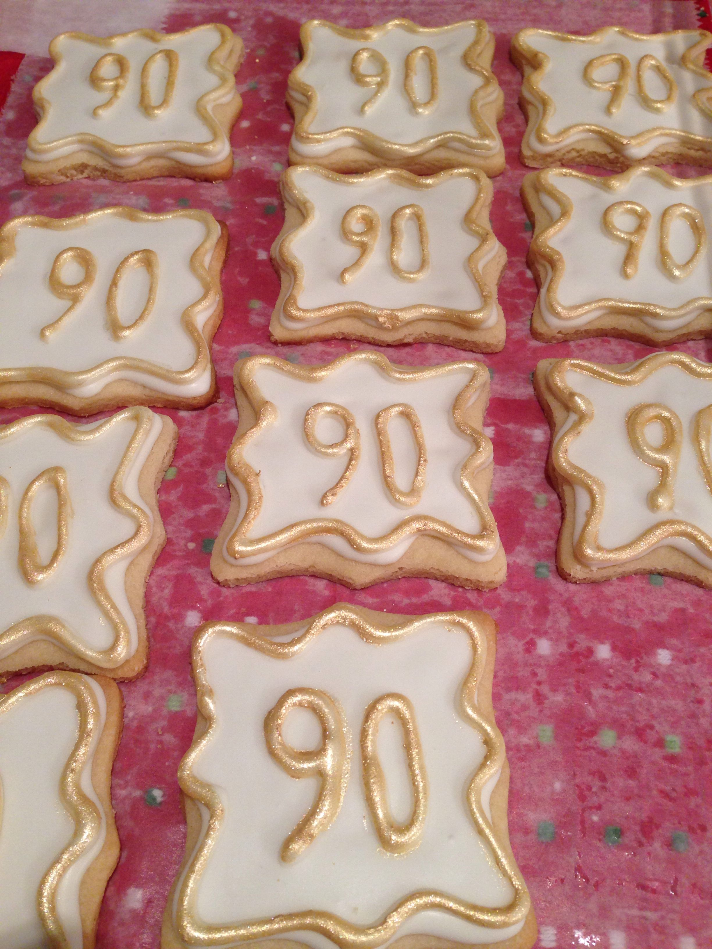 Party Favor Cookies 90th Birthday Made By Me 90th