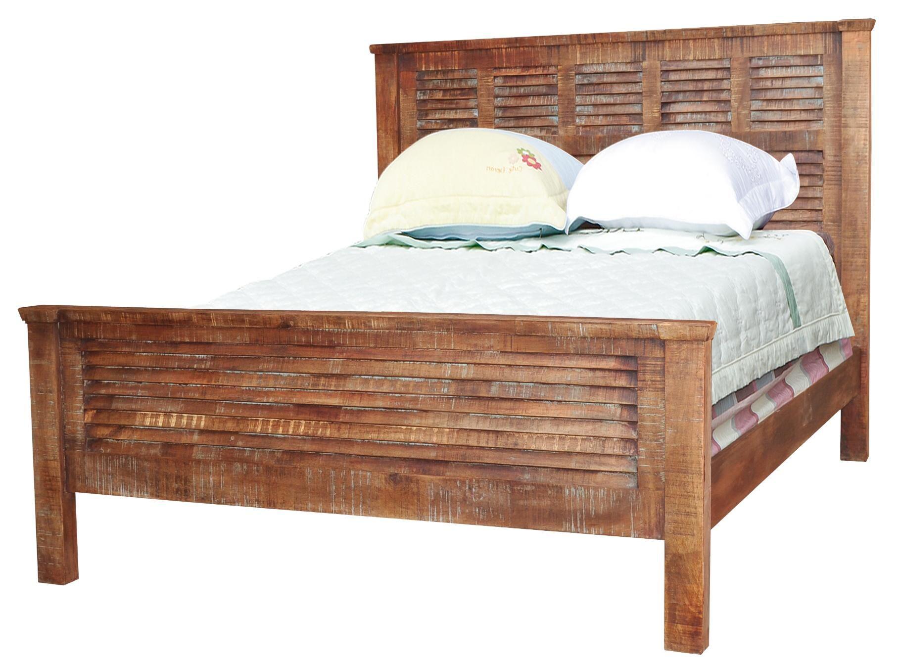 Jaipur Furniture Guru Queen Shutter Bed - Great American Home Store ...