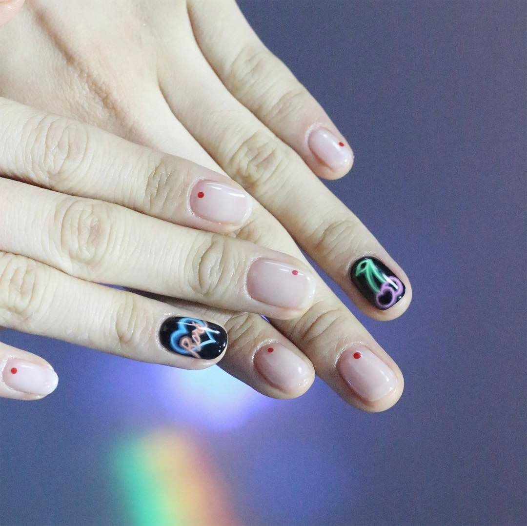 Neon Sign Nail Art Is About to Light Up Your Instagram