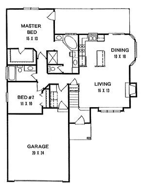 Home plans homepw square feet bedroom bathroom cottage with garage bays also rh pinterest