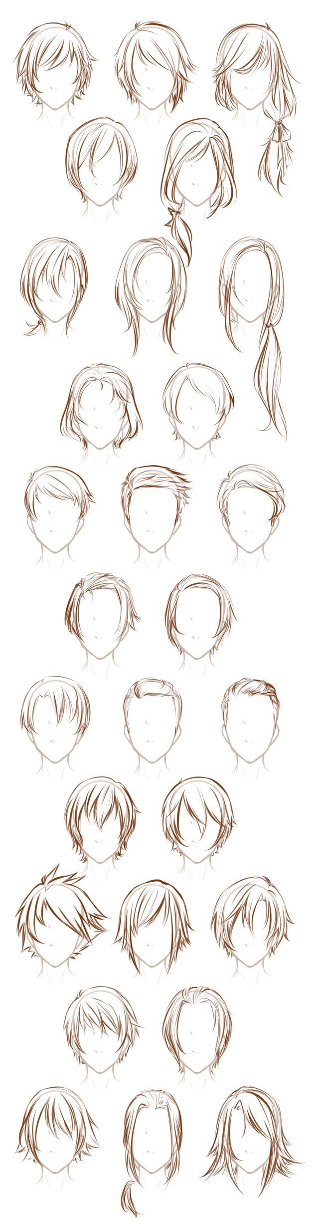 Different Types Of Hairstyles For Both Men And Women Drawing Tools Inspiration Creativity Reference Sheet Gu How To Draw Hair Art Tutorials Hair Sketch