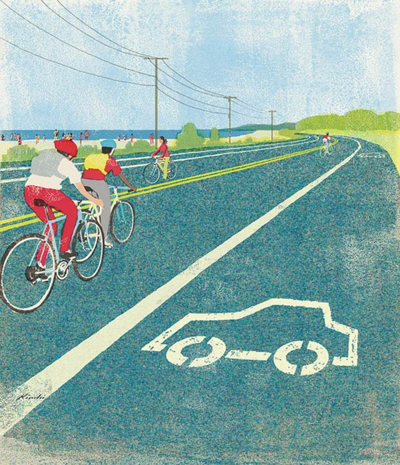 Maybee if we did this for a while then stupid people will under stand that there are cyclists out there