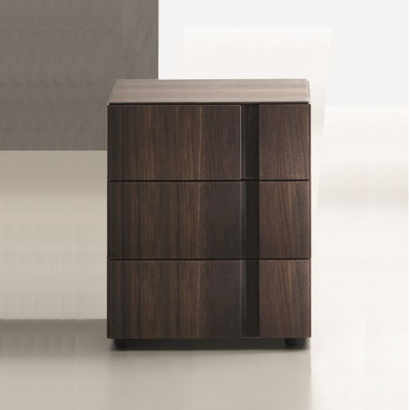 Muse 3 Drawer Bedside Table. H53cm. (MU53)