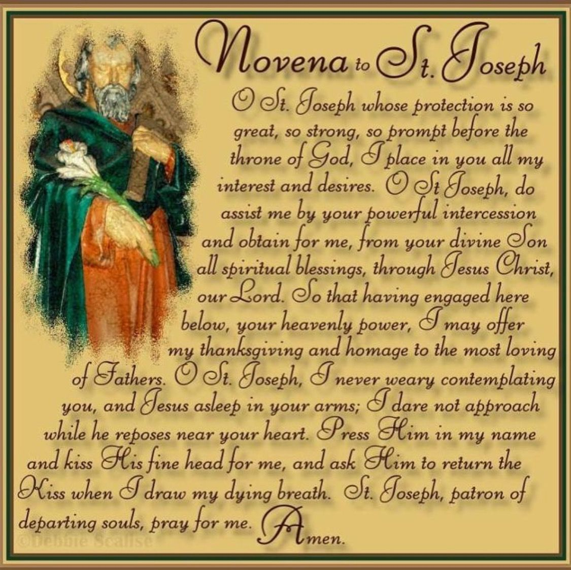 Novena To St Joseph This Is My Absolute Favorite I Memorized It In College And It Is A Very