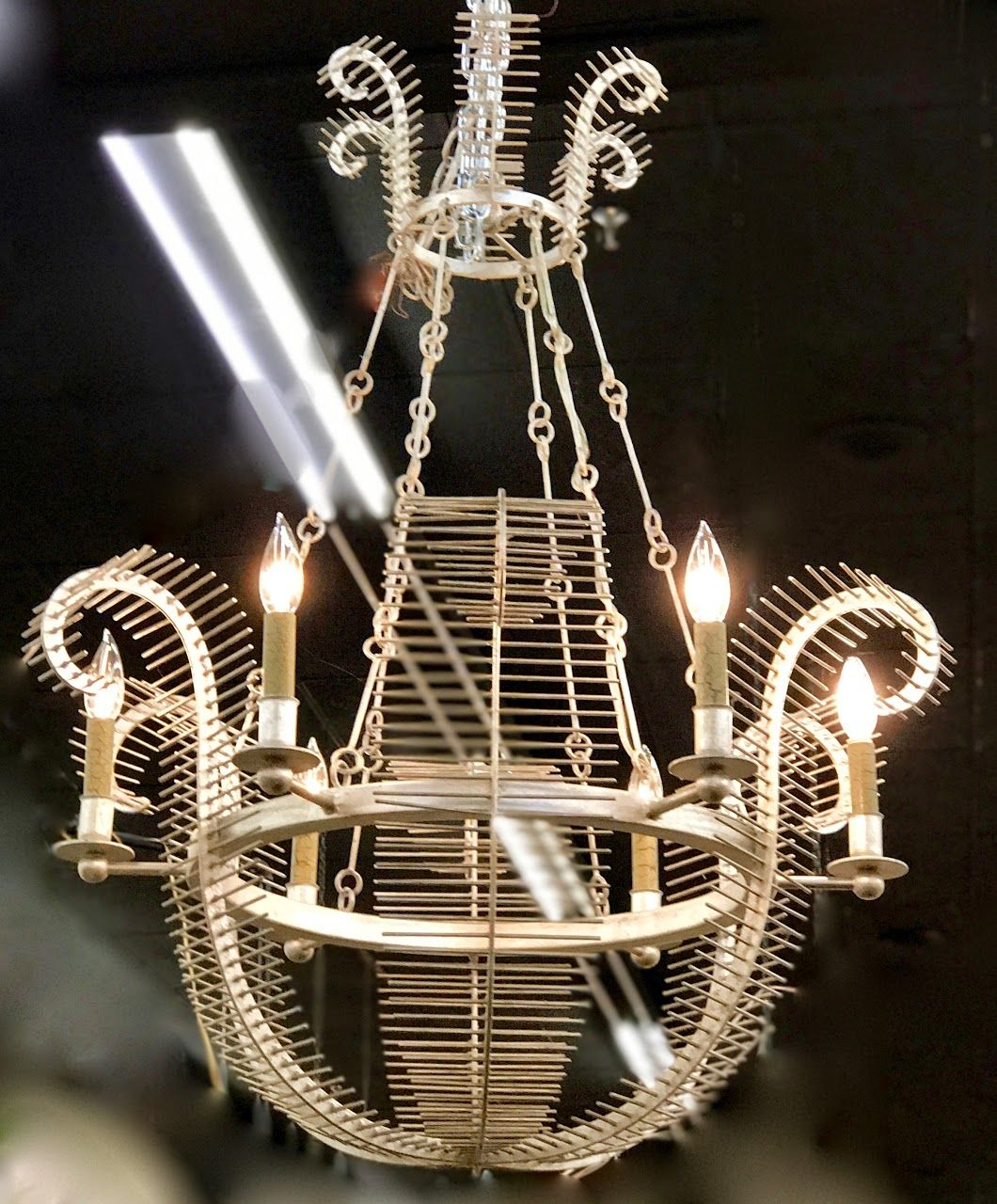 Country French Style Basket Chandelier On Sale Was $1295 Sale ...