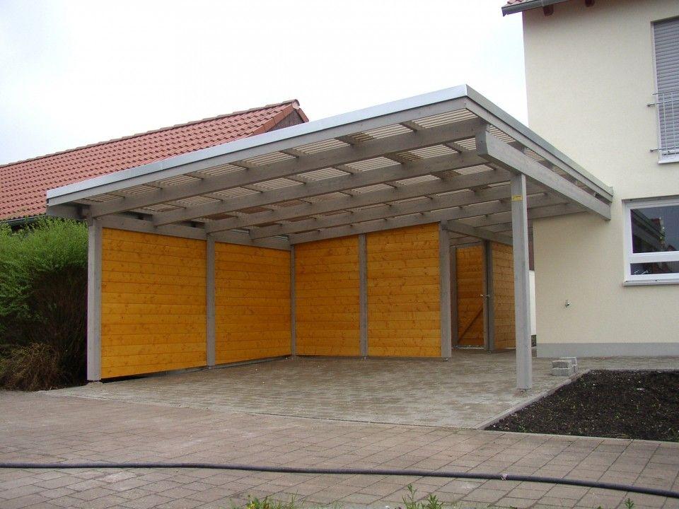 Carport mit Abstellteil Holzbau, Bau, Carport