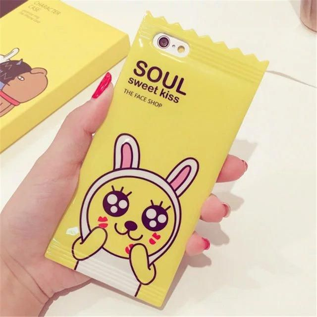 Cute Muzi Apeach Case For Apple iPhone 6 6s 7 8 plus 3D Candy Korean Cartoon Phone Cases Cover for iPhone 6 Silicone Case   C95 – Phonebae