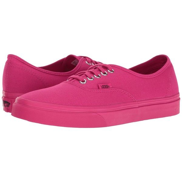 f4026bd743633d Vans Authentic ((Mono) Rose Red) Skate Shoes ( 55) ❤ liked on Polyvore  featuring shoes