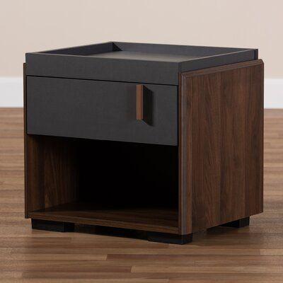 Wrought Studio Askern Wood 1 Drawer Nightstand Nightstand Drawer Nightstand Drawers