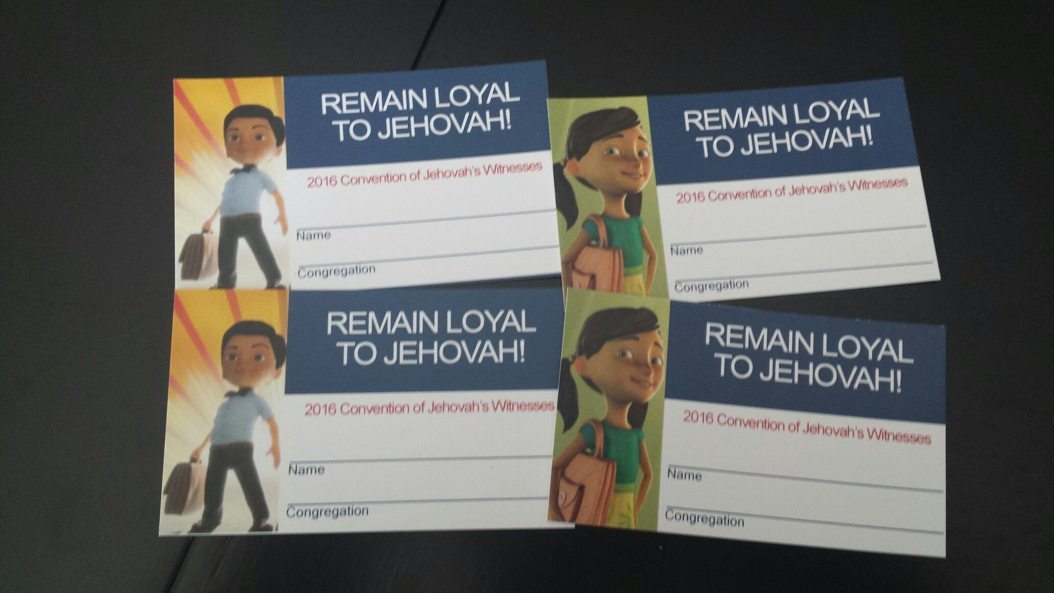 Regional Convention Remain Loyal To Jehovah Badge Cards For Kids Featuring Our Favorite