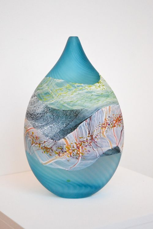 Thomas Petit – Flint Teardrop Vase