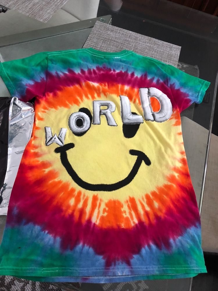 f6b4512ea11b Travis Scott Astroworld Smiley Tie Dye T-Shirt Size small Limited Edition  #fashion #clothing #shoes #accessories #mensclothing #shirts (ebay link)