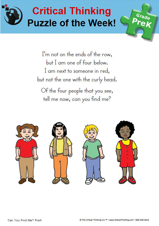 The Critical Thinking Company Publishes Prek 12 Books And Software To Develop Critical Thinking I Critical Thinking Thinking Skills Brain Teasers With Answers