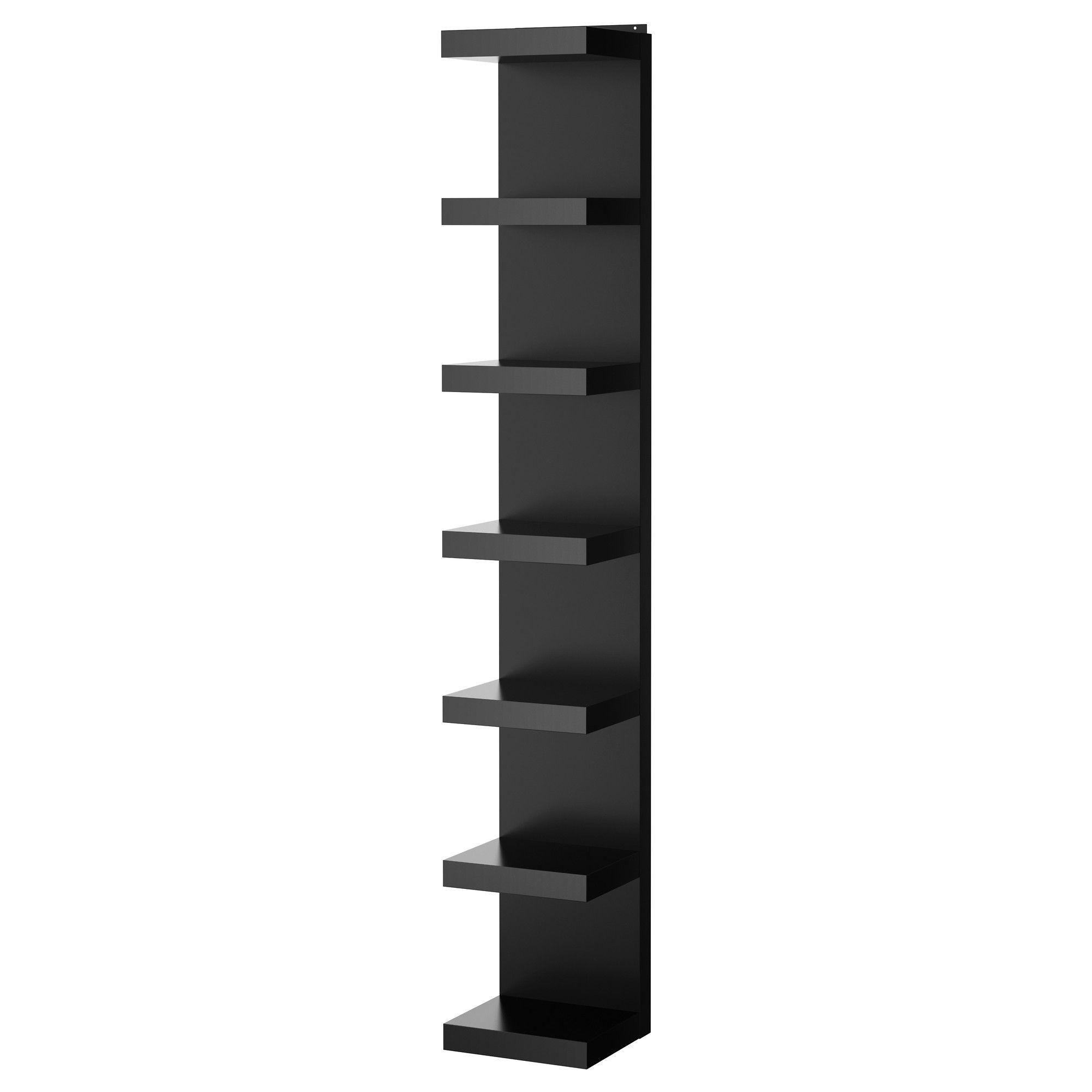 ИКЕА (ikea) club : ЛАКК, Полочный модуль, навесной, черный, 201.637