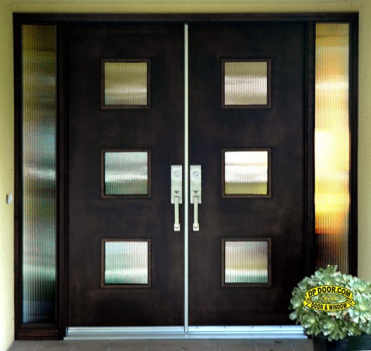 Mid Century Modern Double Front Entry Doors