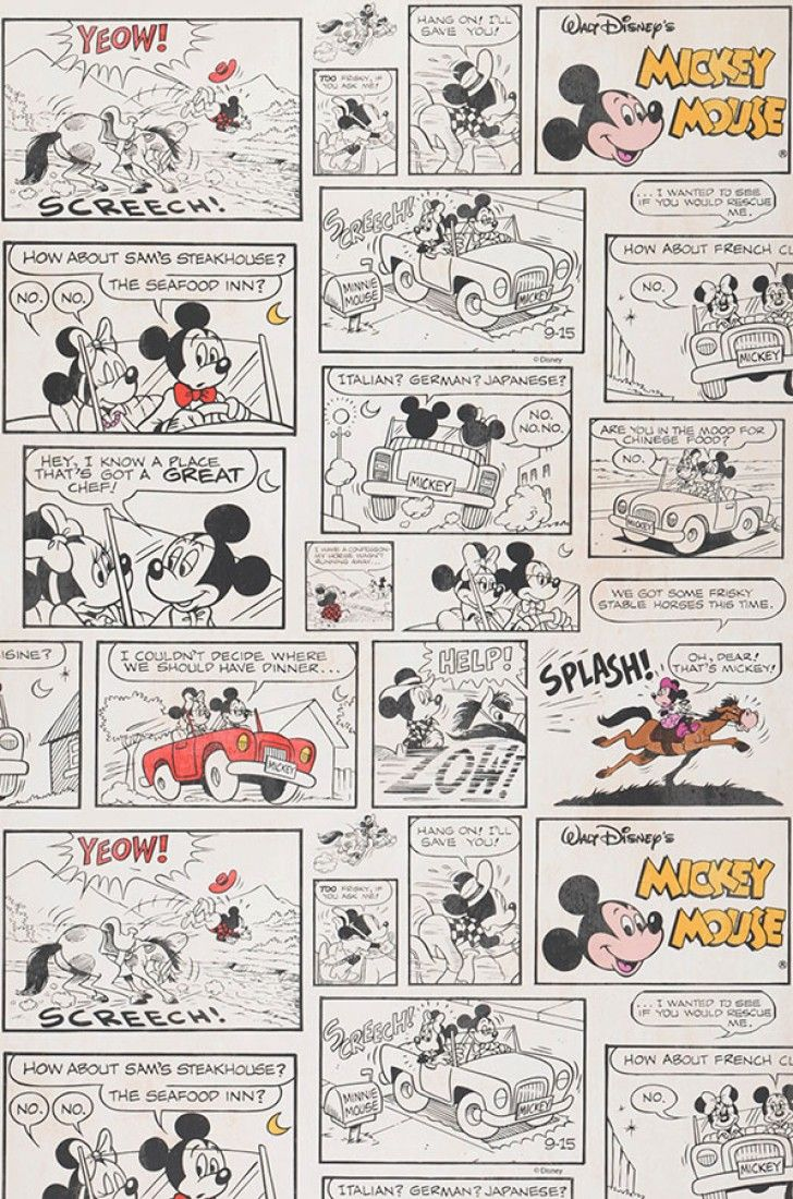 1930s mickey and minnie papel de parede infantil - Papel de pared infantil ...