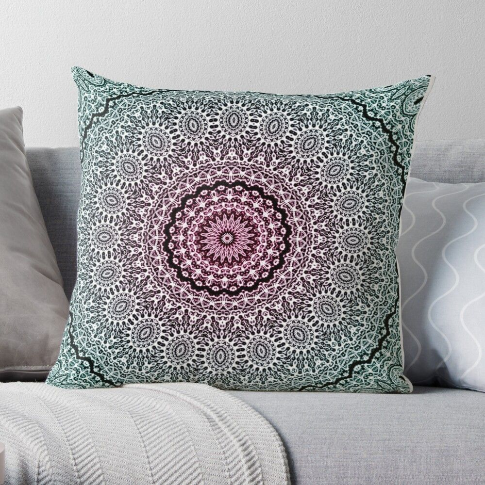 Mandala of calm with gradient: Dynamism, balance, nature and calm. #throwpillows #homedecor #mandalapillow #bohopillows #cr6zym1nd #mandalaofcalm #findyourthing
