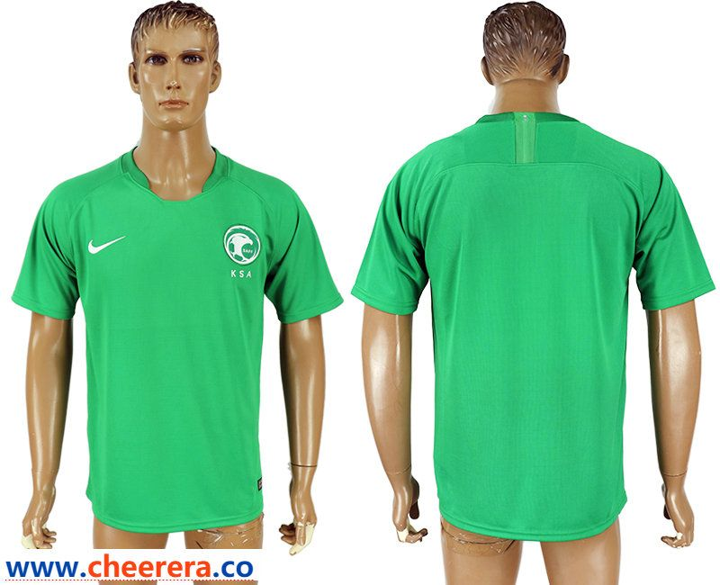 on sale 72349 564c2 Saudi Arabia Away 2018 FIFA World Cup Thailand Soccer Jersey ...