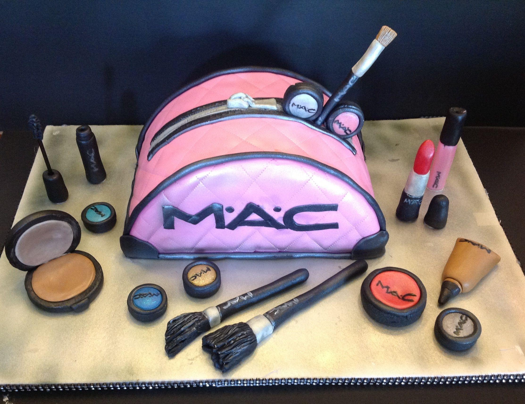 Mac makeup bag cake Handbag cakes, Make up cake, Girly cakes
