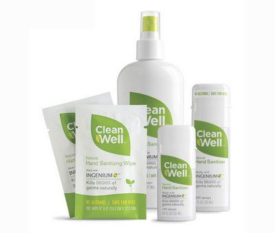 Clean Well Biodegradable Products Hand Sanitizer Packaging