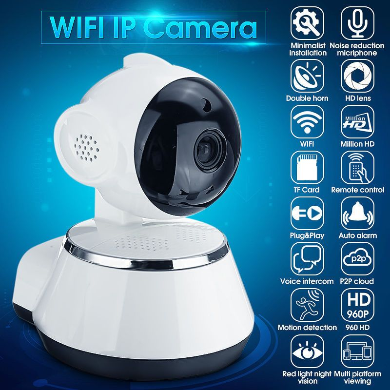 Wireless Pan Tilt HD 48p IP WiFi Camera Security CCTV CAM Network Gorgeous Exterior Cameras Home Security Minimalist Collection
