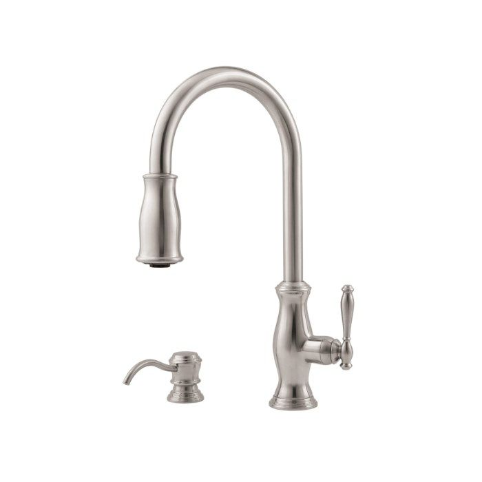 Pfister Gt529Tms Hanover 2 Or 4 Hole Pull Down Kitchen Faucet In Cool 4 Hole Kitchen Faucet 2018