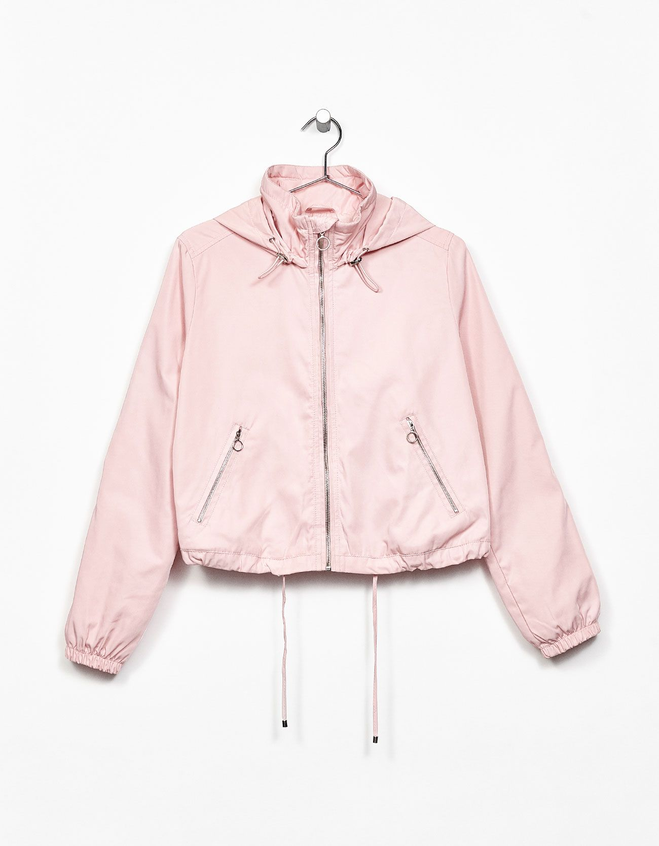 6ec599c2cae Nylon jacket with hood. Discover this and many more items in Bershka with  new products every week