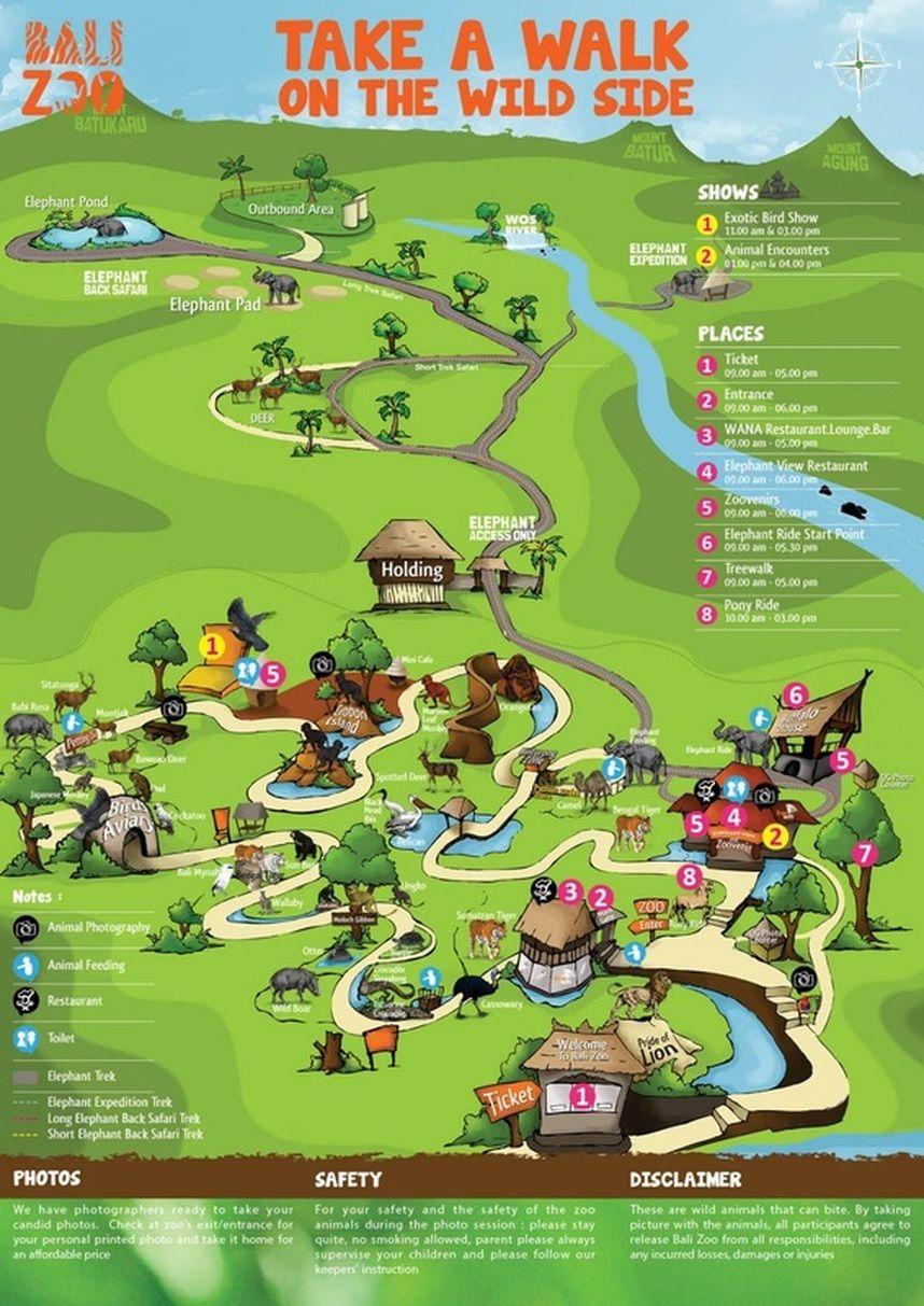 Map Of Bali Zoo Bali Zoo Map Bali Map