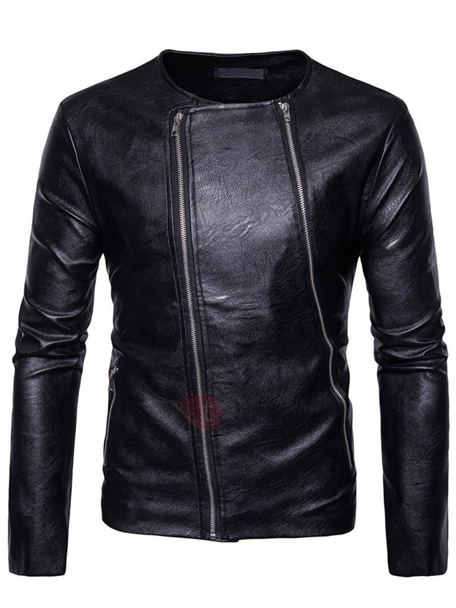 e10adc0db5b  TideBuy -  TideBuy Tidebuy Zipper Slim Long Sleeve Leather Mens Jacket -  AdoreWe.
