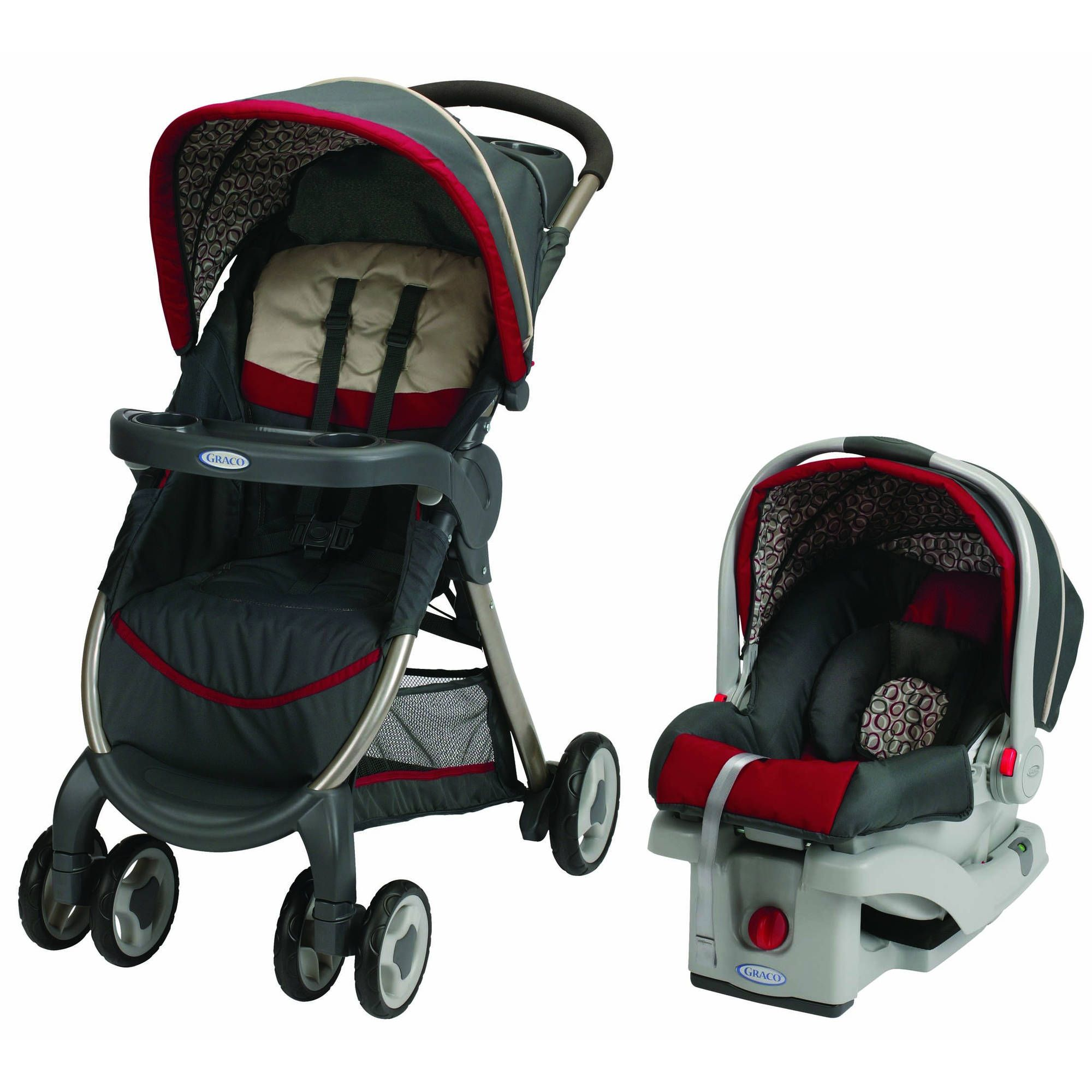 Graco Baby FastAction Fold Travel System Stroller w// Infant Car Seat Finley NEW