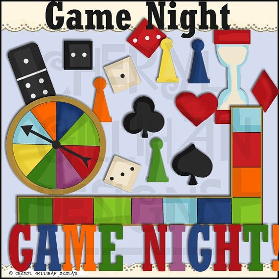 Game Night Clipart Collection - Immediate Download (With ...