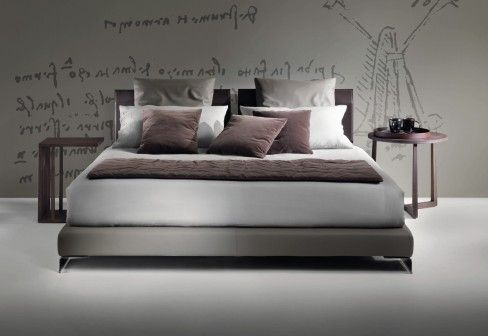 Long Island Bed by Flexform | beds | Double bed designs, Bed ...