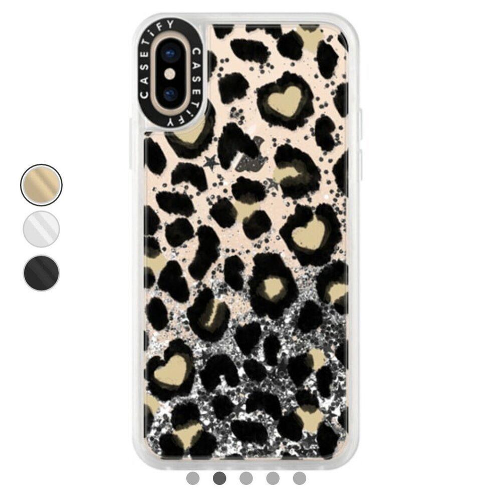 newest 40128 b6f18 Casetify Leopard Glitter Case iPhone XS / X - Glitter Case Iphone ...