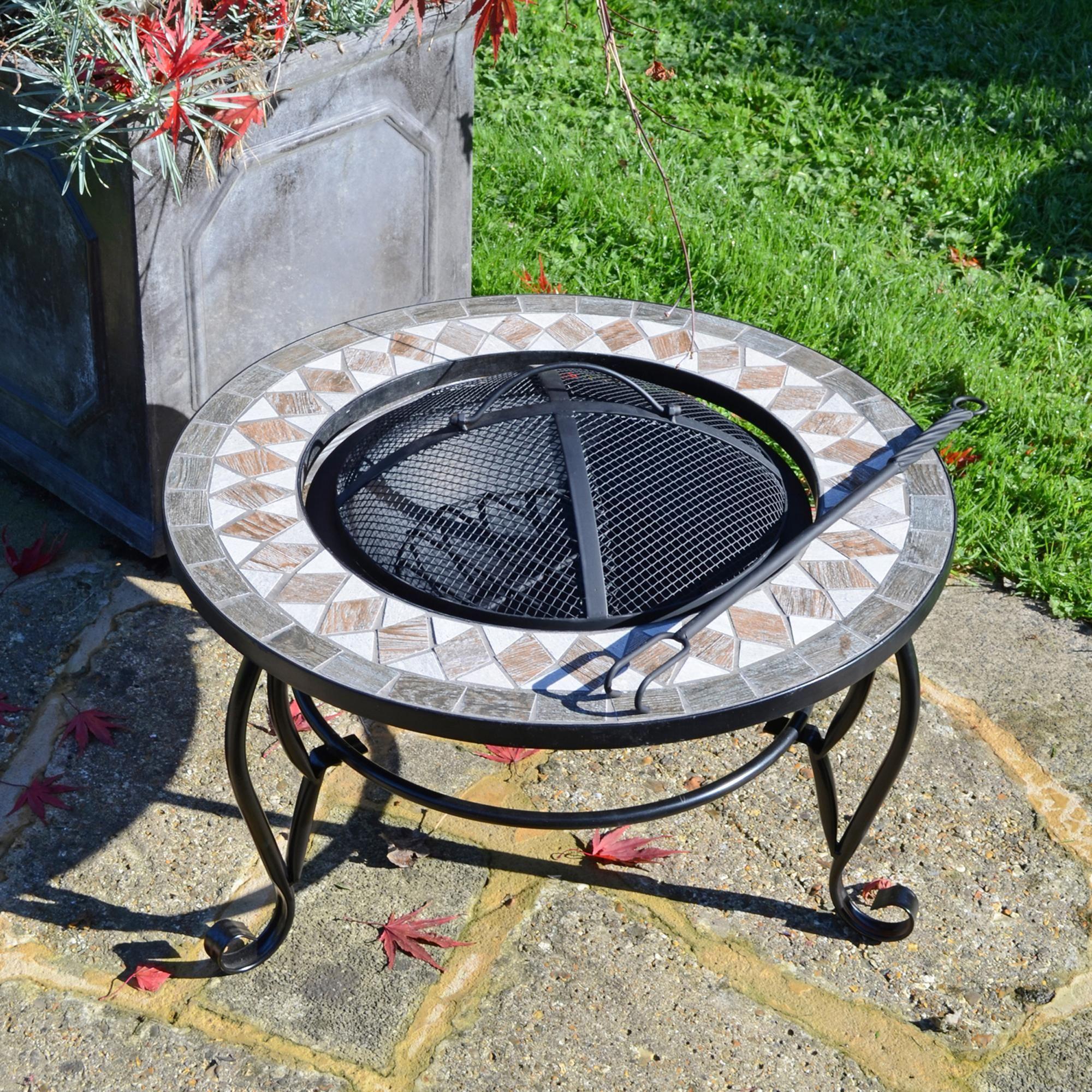 Summer Terrace Brava Low Fire Pit In 2020 Fire Pit Table Wood