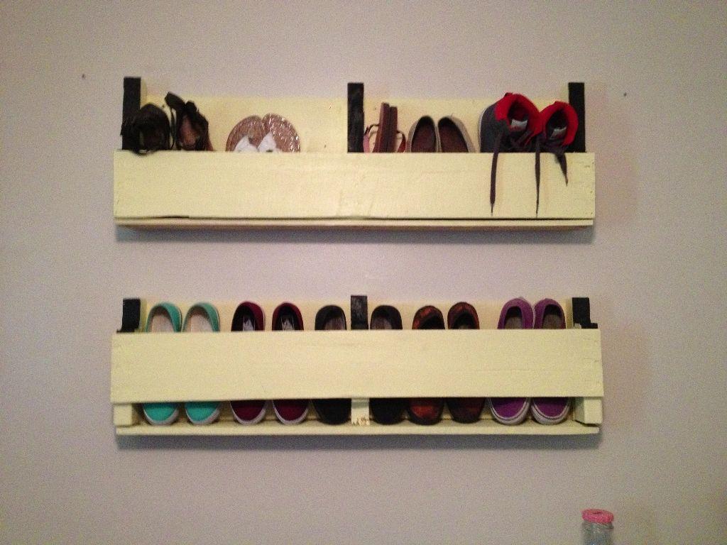 Wall Mounted Shoe Rack Large : Wall Mount Shoe Rack Organization ...