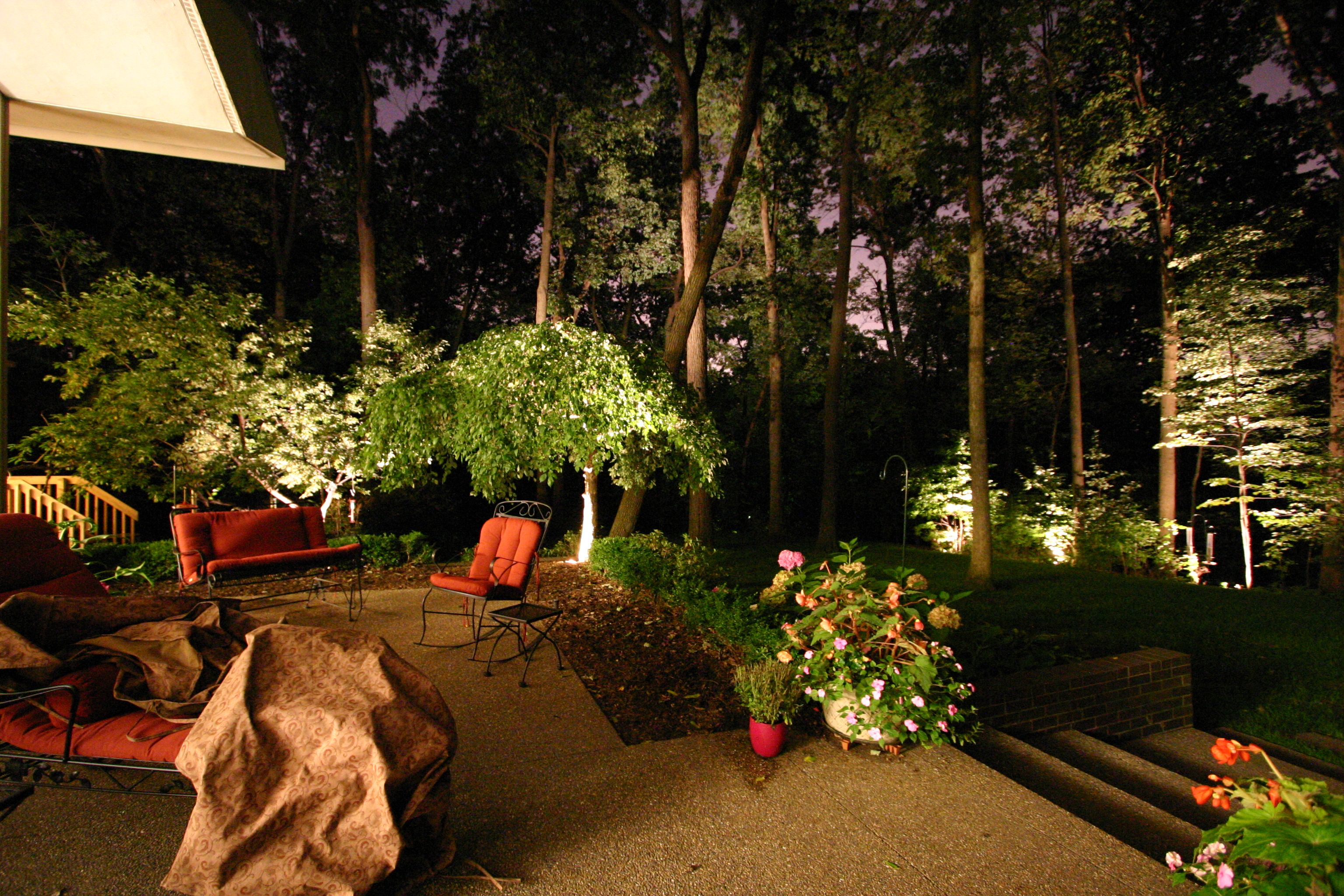 Backyard Patio Lighting Zen Garden Pinterest