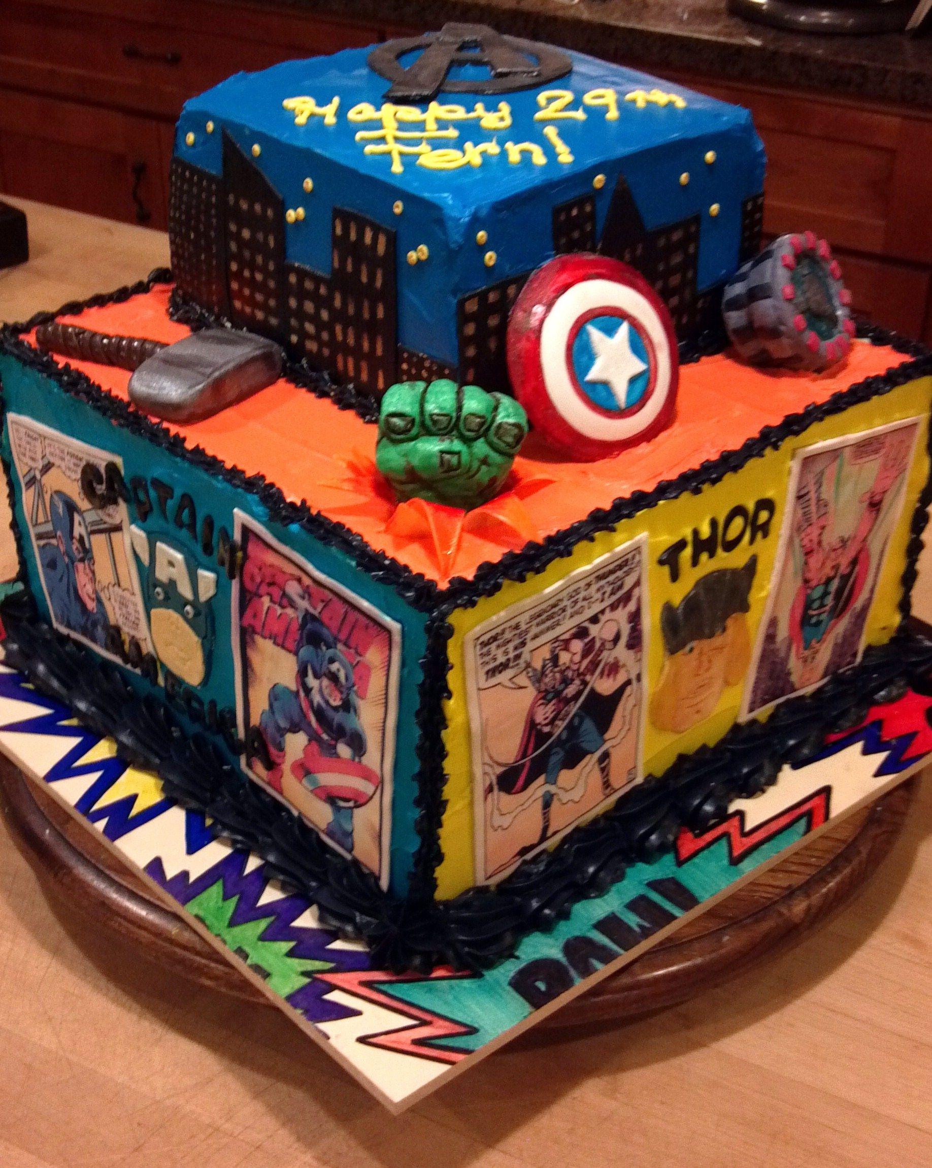Super Hero Comic Book Cake By Lynette Brandl Book Cake Boy
