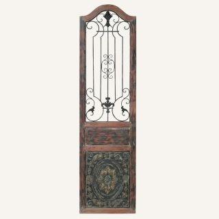 Rustic Elegance Door Panel Wall Decor Wood And Metal