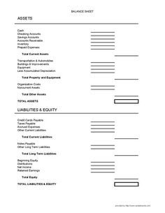 Balance Sheet Form  Balance Sheet Free Printable And Pdf
