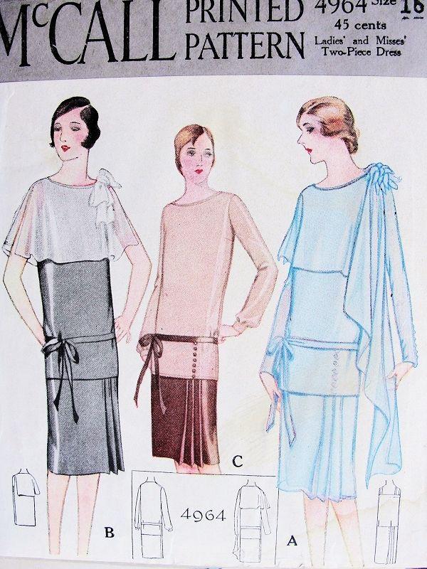 1920s GATSBY DOWNTON ABBEY Party Evening Dress Pattern