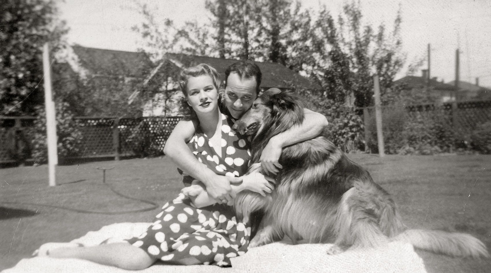 Vancouver, BC. 1940. Mr. & Mrs. I'Anson with King Tut