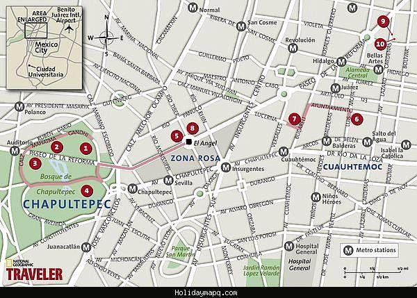 map of mexico city tourist httpholidaymapqcommap