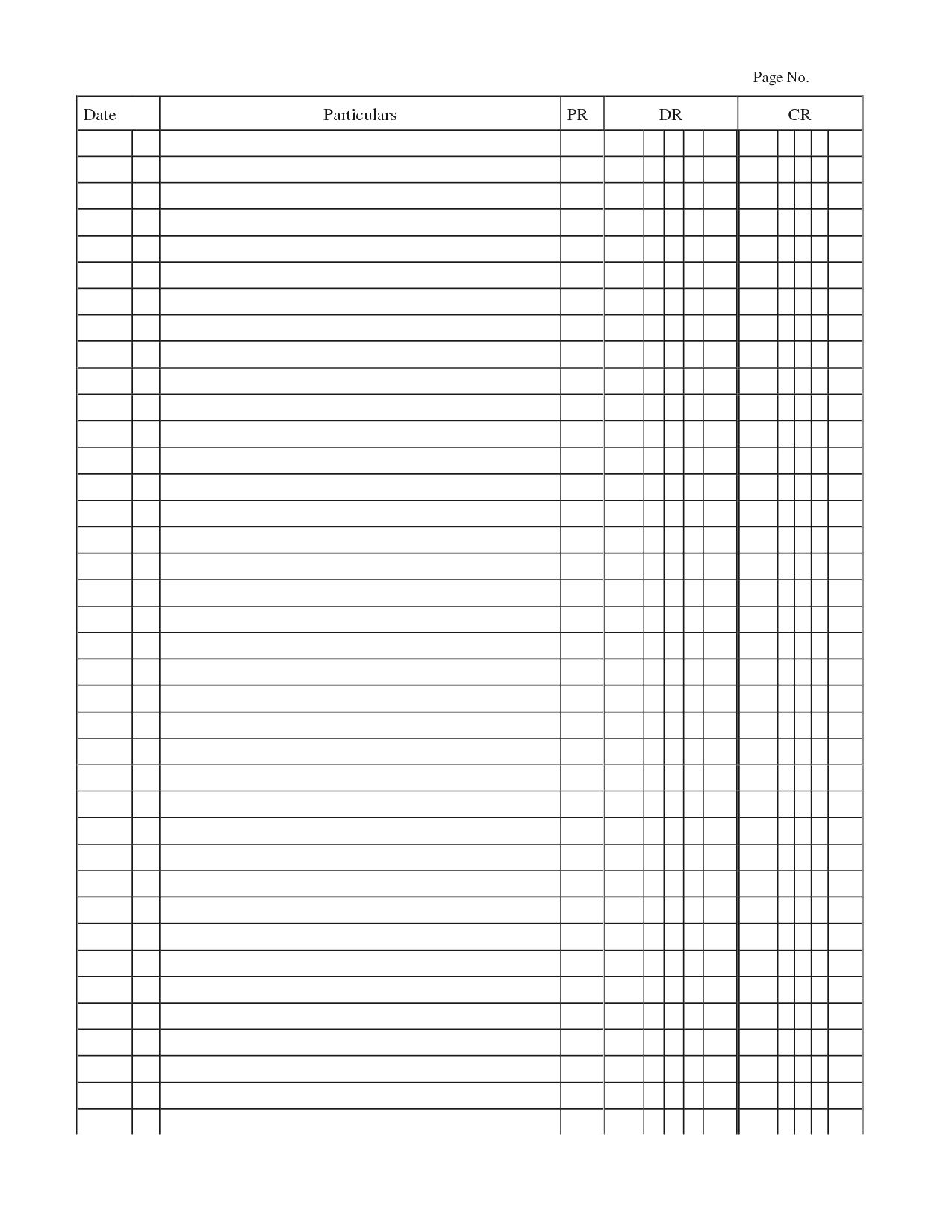 012 Template Ideas General Journal Ledger Accounting