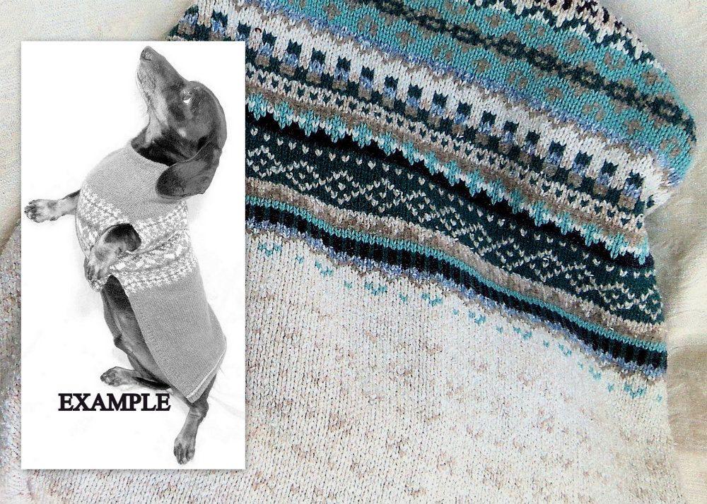 Fair Isle dachshund sweater Custom handmade. Want the argyle one ...