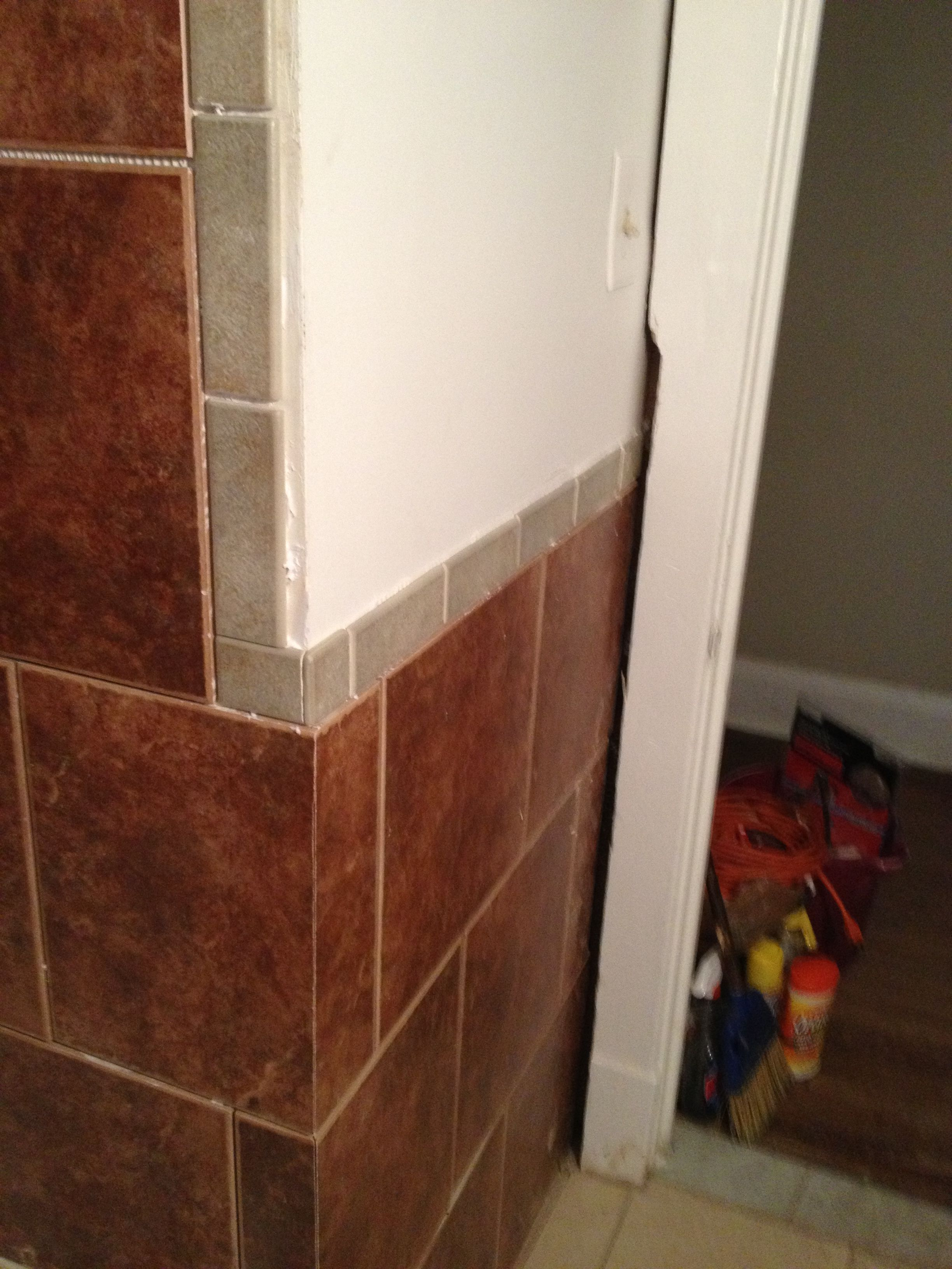 Lets get it around they wall as well Bathrooms Pinterest Walls