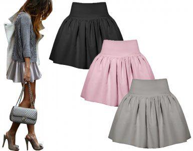 Spodnica Spodniczka Rozkloszowana Falbana New M980 Midi Skirt Skirts Fashion