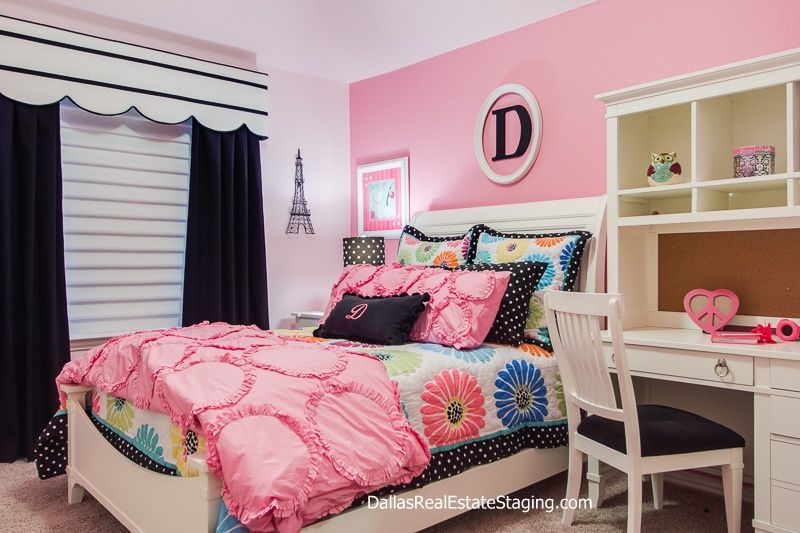 Traditional Kids Bedroom with Carpet, Calico Corners Custom Cornice Board Window Treatment, Distressed Wall Letter A-Z
